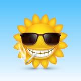 Smiley sun glasses smoke. Vector Stock Photos