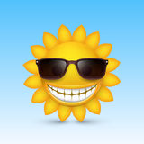 Smiley sun glasses. Vector Royalty Free Stock Photography