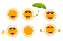 Smiley sun Royalty Free Stock Images