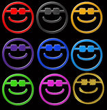 Smiley sunglasses Stock Image