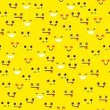 Smiley sur un fond jaune Photos libres de droits