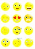 Smiley symbol, framsida Royaltyfri Bild