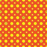 Smiley szczęśliwy bezszwowy wzór Zdjęcie Royalty Free