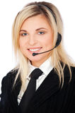Smiley telephone operator Stock Images