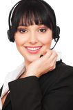 Smiley telephone operator Royalty Free Stock Images