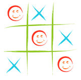 Smiley tic tac toe Stock Image