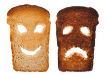 Smiley toast Royalty Free Stock Photography