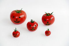 5 Smiley Tomatoes Photos stock