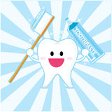 Smiley tooth stock illustration