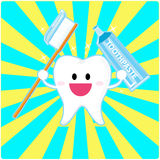 Smiley tooth Royalty Free Stock Photos