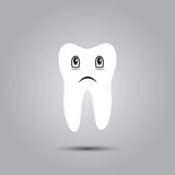Smiley in tooth. Smiley in the shape of a tooth on a gray background Royalty Free Stock Photo