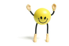 Smiley Toy. On White Background Royalty Free Stock Photography