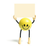 Smiley Toy. On Isolated White Background Royalty Free Stock Photography
