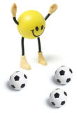 Smiley Toy and Football Royalty Free Stock Photo