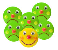 Smiley Toys. On White Background Royalty Free Stock Images