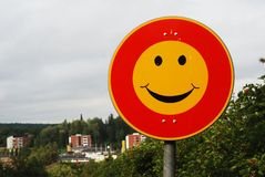 Smiley Traffic Sign Royalty Free Stock Photos