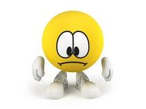 Smiley traurig Lizenzfreie Stockfotos