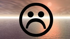 Smiley triste stock de ilustración