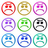 smiley triste Images stock