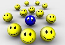 Smiley triste Imágenes de archivo libres de regalías