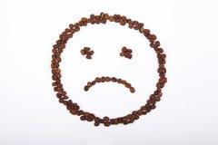 Smiley triste di caffè Fotografia Stock