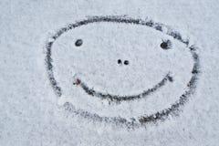 Smiley twarz. Uśmiechnięty bałwan. Zima. Fotografia Stock