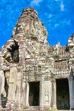 Smiley twarze Bayon TempleAngkor Wat fotografia royalty free