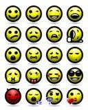 Smiley twarzy ikony set Obraz Royalty Free