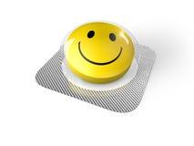 Smiley twarzy pigułka w bąblu Fotografia Stock