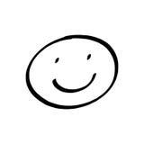 Smiley twarzy rysunek Fotografia Stock