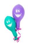 Smiley twee baloons Stock Afbeelding