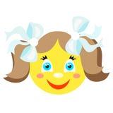Smiley uśmiecha się dziewczyny Obrazy Stock