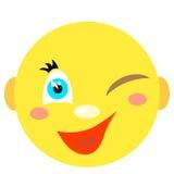 Smiley uśmiechy i mrugnięcia Obrazy Stock