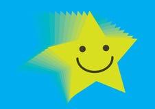 Smiley van de ster - vector Stock Afbeelding