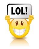 Smiley van Lol Stock Afbeeldingen