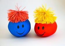 Smiley variopinto Faces-1 Fotografie Stock