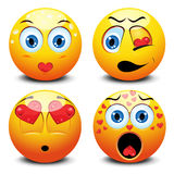 Smiley. Vector illustration of different Valentine's day smiley Royalty Free Stock Photos