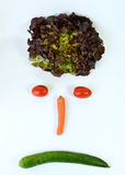 Smiley with vegetables Royalty Free Stock Images