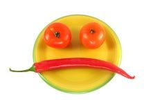 Smiley vegetal foto de archivo libre de regalías