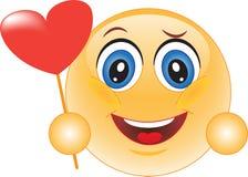 Smiley. Verklaring van liefde. Stock Afbeelding