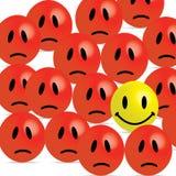 Smiley vilain illustration stock