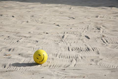Smiley volleyball Stock Photography