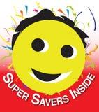 Smiley voor kortingsverkoop Stock Afbeeldingen