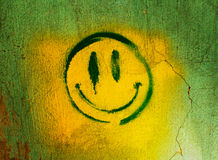 Smiley on the wall Stock Photo