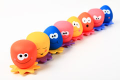 Smiley water toys Stock Image