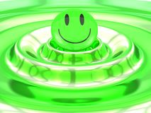 Smiley on Waves Stock Photography