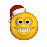 Smiley Wearing Santa Hat 2 Stock Images