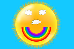 Smiley Weather Royalty Free Stock Photos