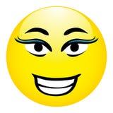 Smiley Wektorowa ilustracja - damy twarz Zdjęcia Royalty Free