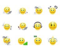Smiley, welche die Aufladung für den Körper und das Gehirn darstellen Lizenzfreie Stockbilder